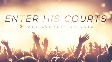 Enter His Courts IAFB Convention 2019, sea of people with hands raised, praising God